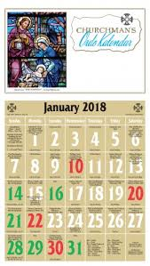 Liturgical Desk Calendar Episcopal Churchman U0027s Ordo Kalendar 2018 Cathedral Church Of The