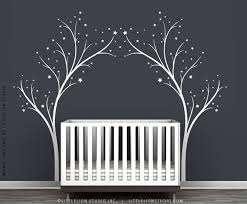 White Tree Wall Decal For Nursery White Twinkle Tree Wall Decal For The Home
