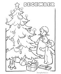 christmas coloring sheets christmas tree