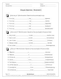 15 best images of spanish possessive adjectives worksheet pdf