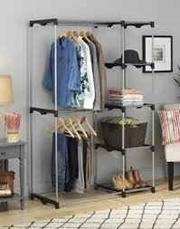 double rod hanging clothes closet storage rack stand shelves dorm