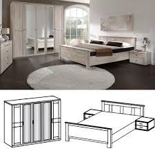 Komplett Schlafzimmer Bett 160 Cm Schlafzimmer Chalet Set 3tlg 160x200 Eiche Sägerau Wimex Möbel