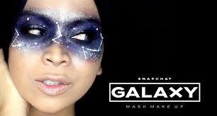 snapchat filter makeup tutorial galaxy mask pre halloween