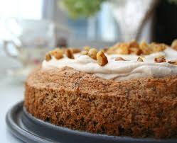 walnut torte with coffee whipped cream low carb and gluten free