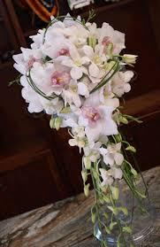Cascading Bouquet Bridal Cascading Bouquet White With Green Accents The Hawaiian
