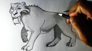 draw lion diego cartoon character ice age
