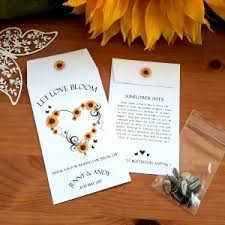 sunflower seed wedding favors wedding seed favours archives bespoke