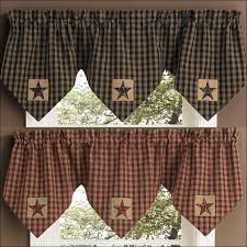 Plaid Kitchen Curtains Valances by Kitchen Decorative Curtains French Country Valances Red