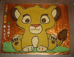 lion king baby simba baby shower cake cakecentral com