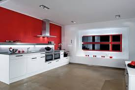 White Kitchen Cabinet Design Red And White Kitchen Decorating Ideas Outofhome