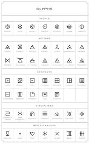 glyphs symbols meaning image collections symbol and sign ideas