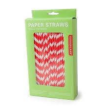 paper straws kikkerland biodegradable paper straws and white