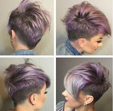 colorful short hair styles womens short haircuts with shaved sides google search my style