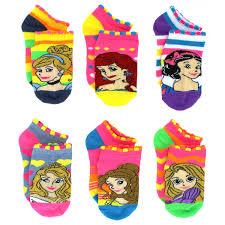 disney princess 6 pack no show socks