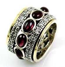 spinner rings cz zircons semi precious stones spinner rings vintage inspires