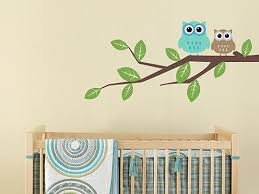 Nursery Owl Wall Decals Branch Tree Owl Decal Baby Nursery Wall Decal Tree Owls