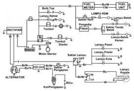 contoh rangkaian kelistrikan pada honda astrea grand