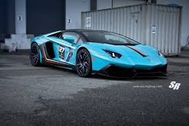 car lamborghini blue blue lamborghini aventador with 50th anniversary conversion gtspirit