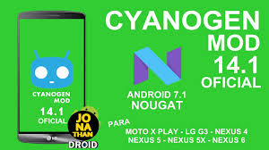rom cyanogenmod 14 1 oficial android 7 1 nougat lux lg g3