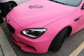 matte pink car matte pink bmw m6 wrap vehicle customization shop vinyl car