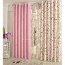 Pink Nursery Curtains Rabbit And Flowers Plaid Nursery Jacquard Bedroom Curtains