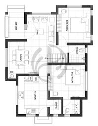 3 BHK Double Floor Low Bud Home Design At 1200 Sq Ft Interior