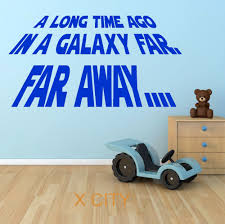 aliexpress com buy star wars quote a long time ago in a galaxy aliexpress com buy star wars quote a long time ago in a galaxy far far away wall art sticker decal removable vinyl cut diy home decor mural room from