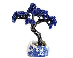 Beaded Home Decor 15cm Beaded Money Tree Bonsai On Rock Oriental Tree Beaded