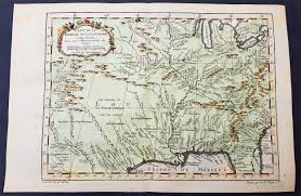 Colonial America Map by 1757 Bellin Original Antique Map Of Colonial States To New Mexico