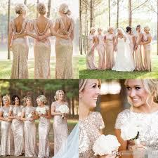 gorgeous rose gold cheap 2015 mermaid bridesmaid dresses 2016