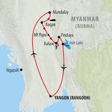 Map Burma Myanmar Burma Tours Holidays To Myanmar On The Go Tours Au
