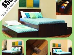 Espresso Twin Bed With Trundle Bed Ideas Stunning Espresso Full Size Trundle Bed With Storage