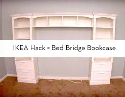 Bedroom Furniture Bookcase Headboard Bookcase How To Build A Bed Bridge Bookcase Using Ikea Bookcases