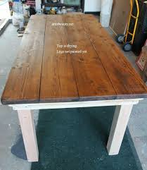 How To Make A Dining Room Table Holy Cannoli We Built A Farmhouse Dining Room Table Craft