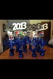 graduation party centerpiece idea glass decor personal photos