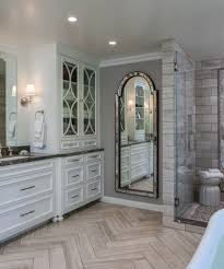 white beadboard mirror with cozy cottage bathroom beach style and