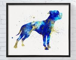 bulldog artwork etsy