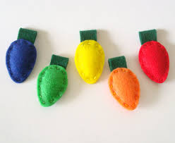 felt ornament christmas decoration old fashioned christmas lights