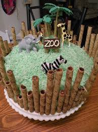 zoo cake i love pirouettes this is so do able plastic