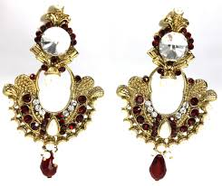 danglers earrings design antique temple jewelry earring traditional design and white stones