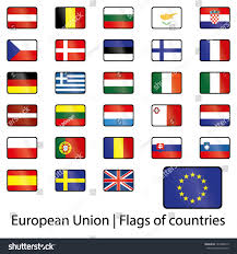 Union Flags European Union Flags Countries Stock Vector 161868419 Shutterstock