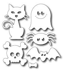frantic stamper precision die cute halloween icons