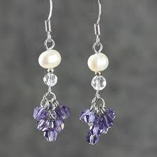 amethyst earrings su yuan ol tassel earrings amethyst earrings handmade earrings