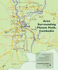 Map Of Cambodia Phnom Penh Surrounding Area Map Cambodia