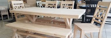solid wood unfinished furniture houston retailer natural wood
