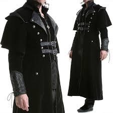 punk rave mens gothic steampunk coat vtg regency highwayman long