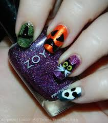 my totally random u0026 fun easy halloween nail art