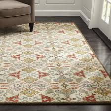 wool rug delphine spice orange wool rug crate and barrel