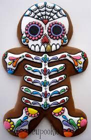 dia de los muertos gingerbread cookie tutorial cakecentral com