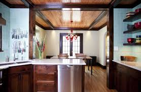 two story fireplace tangletown kitchen remodel trehus architects